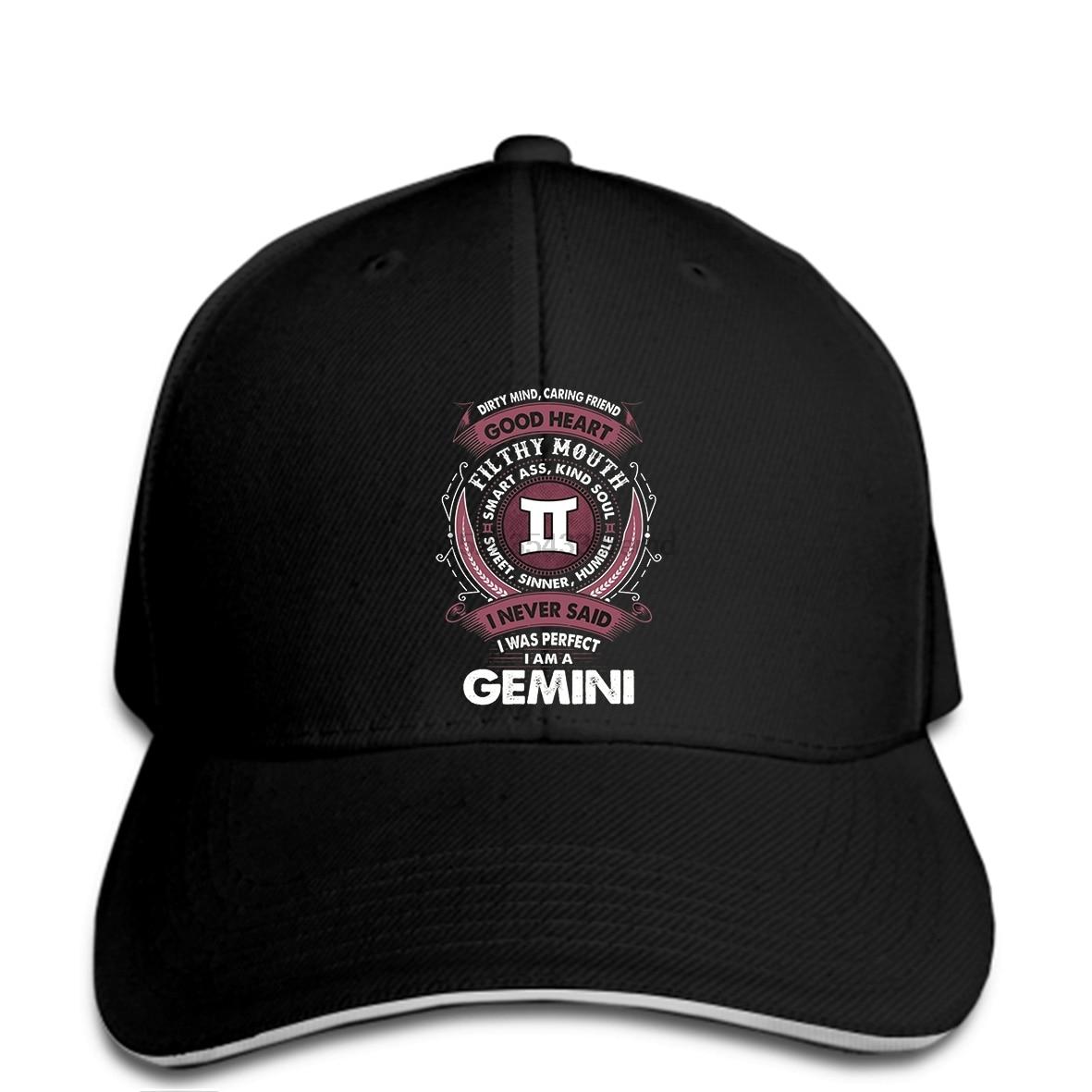 Us 99 Hip Hop Baseball Caps Funny Men Hat Cap Black Astrology Zodiac Signs Quote Gemini Womens Cap Black In Mens Baseball Caps From Apparel