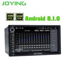 Радуясь 64 ГБ Встроенная память 4 Оперативная 8 CORE ANDROID 8,1 2 DIN Авторадио автомобиля 7 дюймов емкостный сенсорный экран HD 1024*600 Стерео gps головное устройство