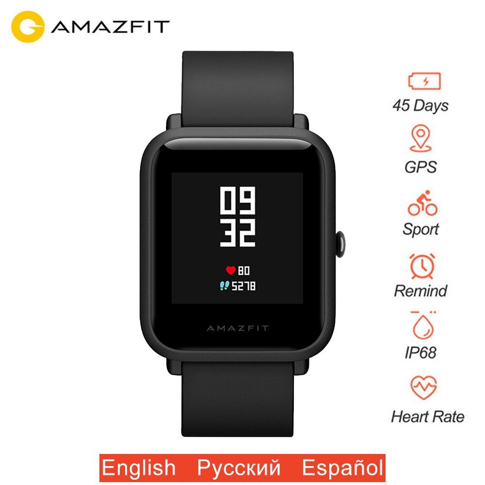 Original Xiaomi Amazfit Bip Bit Lite montre intelligente pour les jeunes GPS SmartWatch IP68 étanche 45 jours longue durée de vie de la batterie Version mondiale
