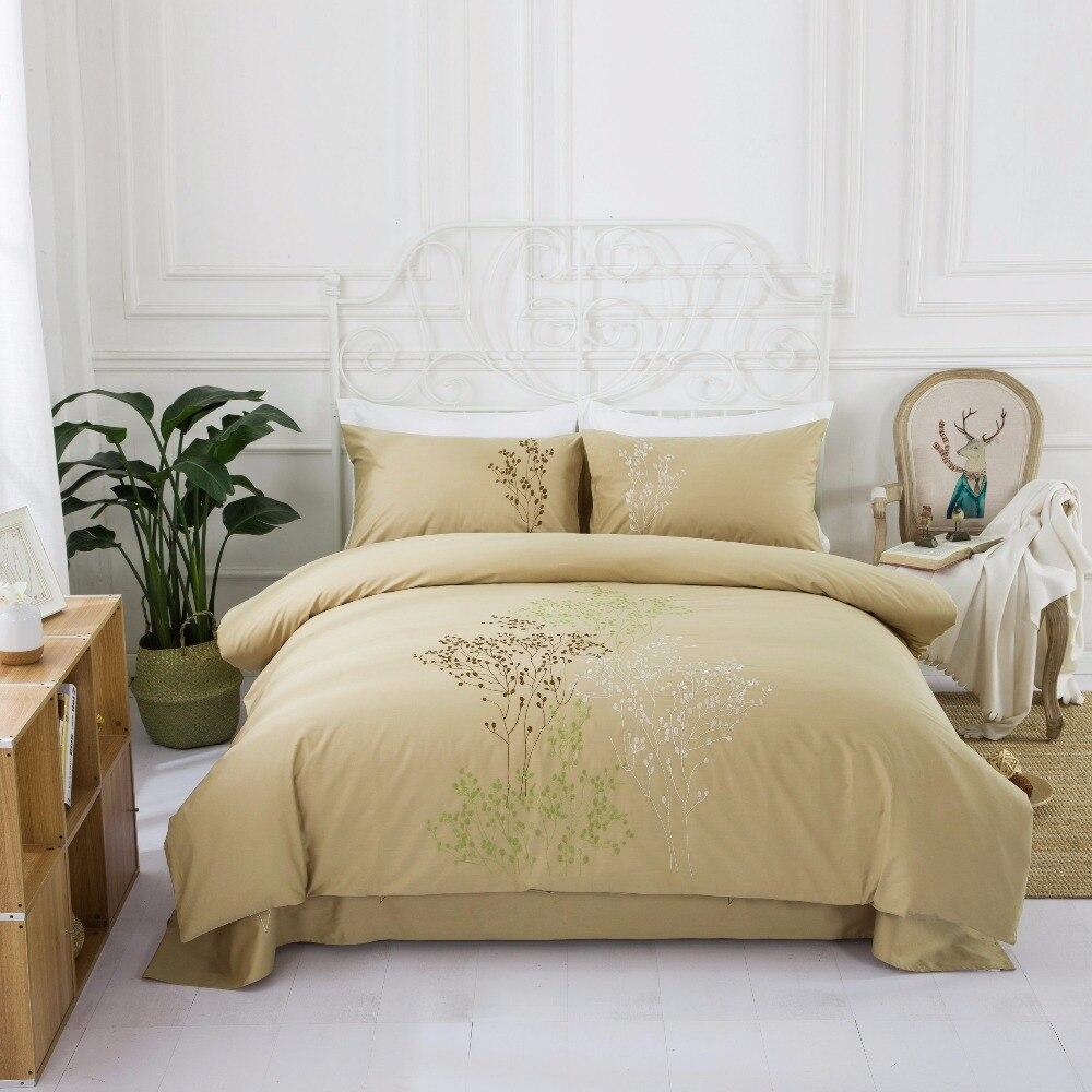 4 UNIDS 100% Algodón Bordado Decoración de la boda ropa de cama - Textiles para el hogar
