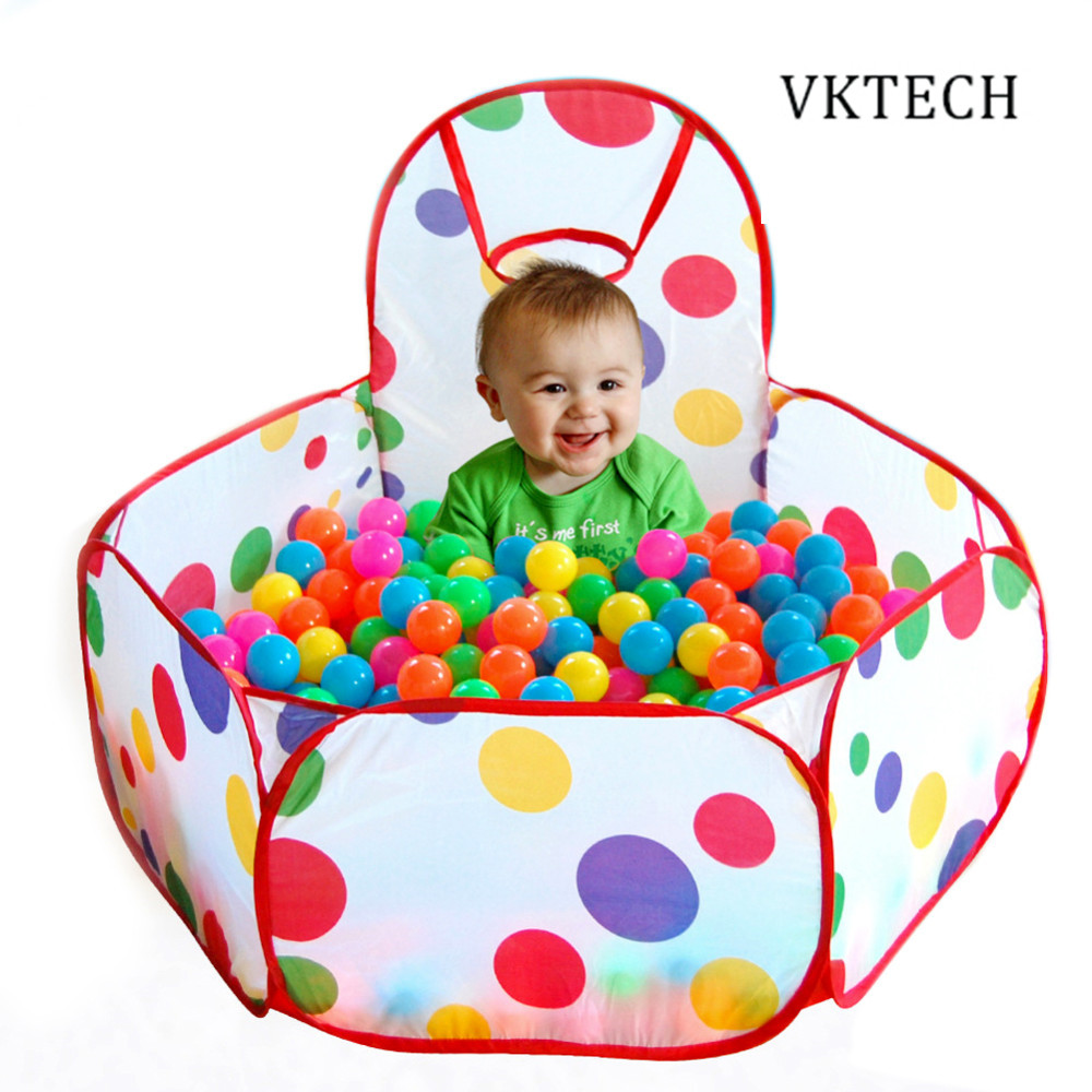 Foldable Childrens Toys Tent For Ocean Balls Baby Play Ball Pool With Basket Outdoor Game Large Tent for Kids Children Ball Pit