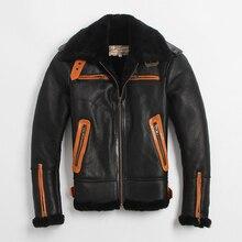 2016  Air pressure Major Warm Burst Locomotive B3 Fur Men's leather-based jackets Fur Coat Men's fur jacket