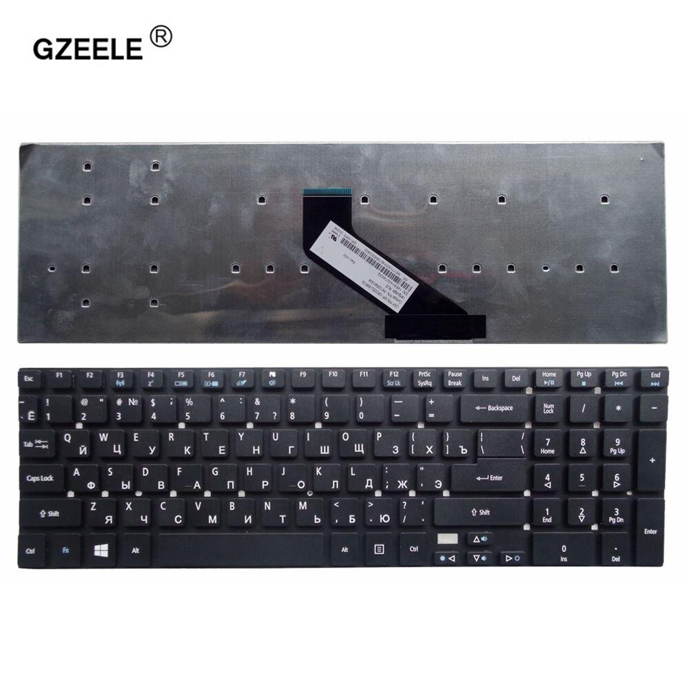 GZEELE Russe Clavier pour Acer Extensa 2508 2509 2510 2510G Z5WBH EX2508 X2508 EX2509 EX2510 2508G 2509G 2510G-365E RU Noir
