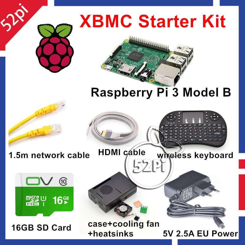 Gadget Keyboard: 52Pi Raspberry Pi 3 Model B XBMC KODI OSMC