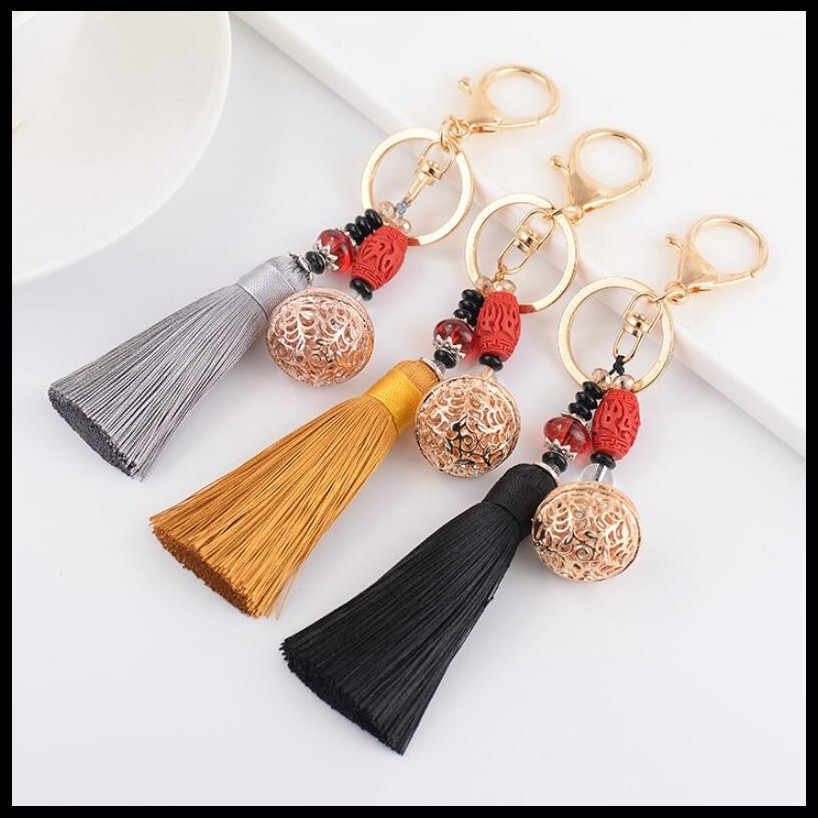 2019 NEW Fashion Creative Tassel KeyChain Girls Bag Ornaments Car Key Chain Exquisite Gift Birthday Gift Party Favors