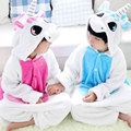 2017 New Spring Pyjamas Girls Animal Nightgown Boy Pijamas Flannel Sleepwear Kids Unicorn Children Pajamas Blue/Pink 2-8year Old