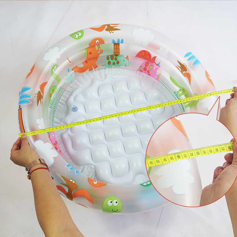 Cute 3 Separate Inflation Baby Swimming Pool High Safety Infant PVC Inflatable Tub Portable Inflatable Round Bath Tub