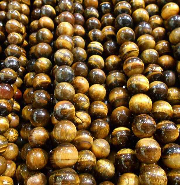 "wholesale Natural Stone Beads Yellow Tiger Eye Globose Loose Beads For Jewelry Making 15.5"" Pick Size 4/6/8/10/12/14 mm"