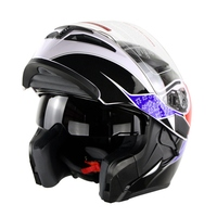 Cyclegear Flip Up Motorcycle Helmet Double Lens Casco Capacetes Motocross Off road Head Protection Collision Full Racing Helmets