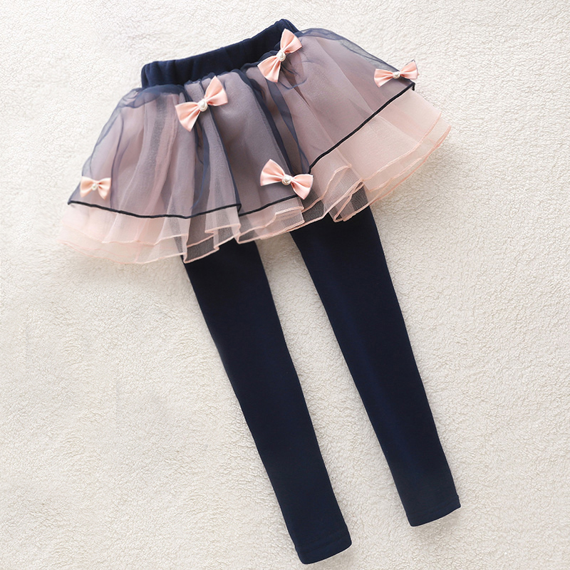 Teenage Girls Leggings Cotton Tutu Skirts For Girls Clothing Spring Autumn Skinny Trousers For Girls Skirt Pants 10 11 12 13 14