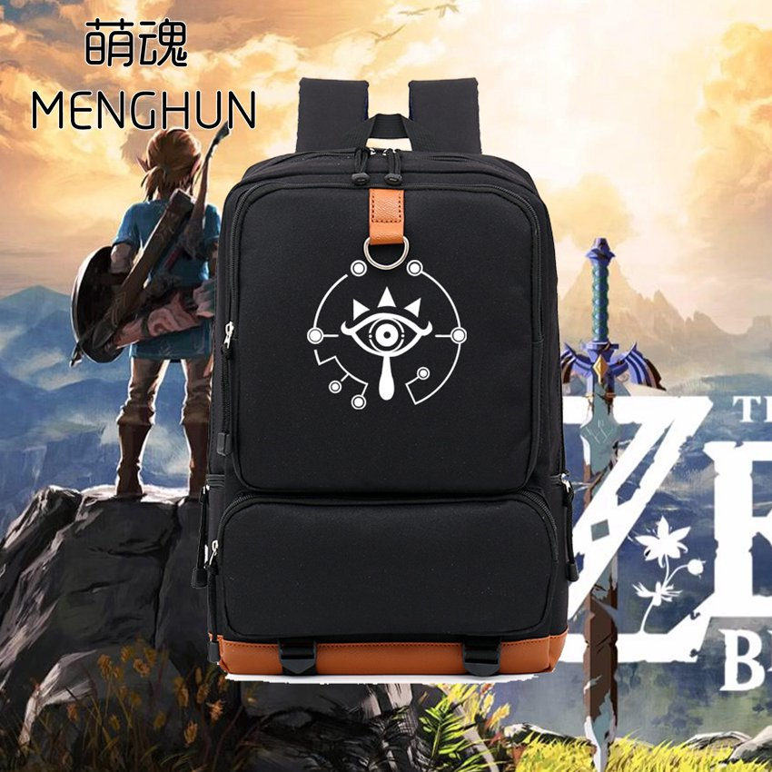 Big new game fans backpack Legend of Zelda nylon backpack Breath of wild NS game concept backpack big backpack for student NB208 lucky john croco spoon big game mission 24гр 004