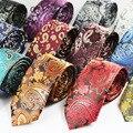 2016 Moda Para Hombre Corbatas Corbatas Estrechas 6 cm Classic Paisley Corbata para Los Hombres de Negocios Formal Traje de Boda Corbatas Jacquard Tejido lazos