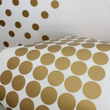 54dots round/pc Gold Dot Wall Sticker Kids Room Background Wallpaper Poster Color Round Dot Wall Applique Mural Decorative Art(China)
