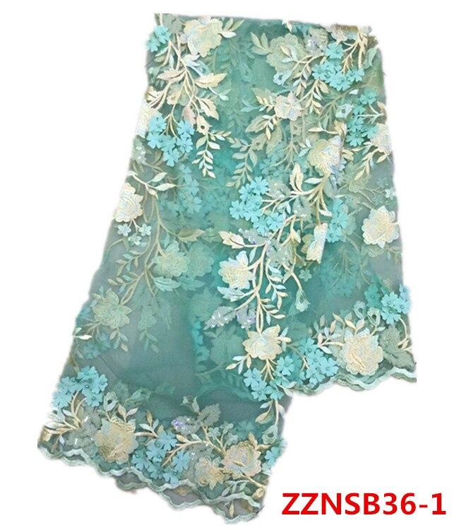 Высокое качество Африканский Кружево Ткань модные Дизайн цветы французский чистая Кружево Ткань 5 ярдов чистая Кружево для торжественное п