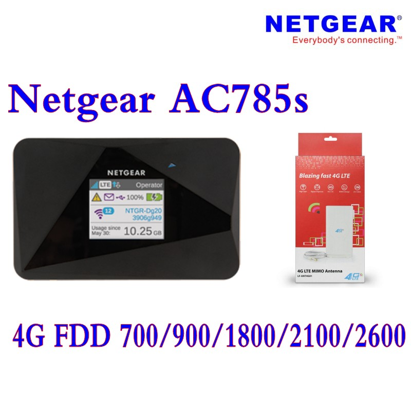 Unlocked netger 785s Aircard AC785s 4g lte router Mobile mifi dongle 4G LTE pocket wifi router plus 4g antenna 49dbi велосипедний шлем giro 16 reverb mtb матовый титан синий размер l gi7067246