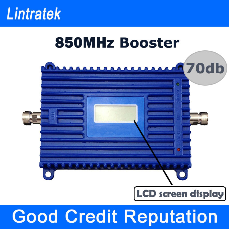 Free Shipping Repeater 850mhz Repetidor De Celular 70db GSM Repeater 850mhz UMTS 850 Signal Amplificador with LCD Screen Display