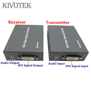 Image 2 - HD1080p DVI Extender Sender Transmit/Receive DVI+Audio Signal by Single Mode Fiber Cable 2KM LC Connector For CCTV Free Shipping
