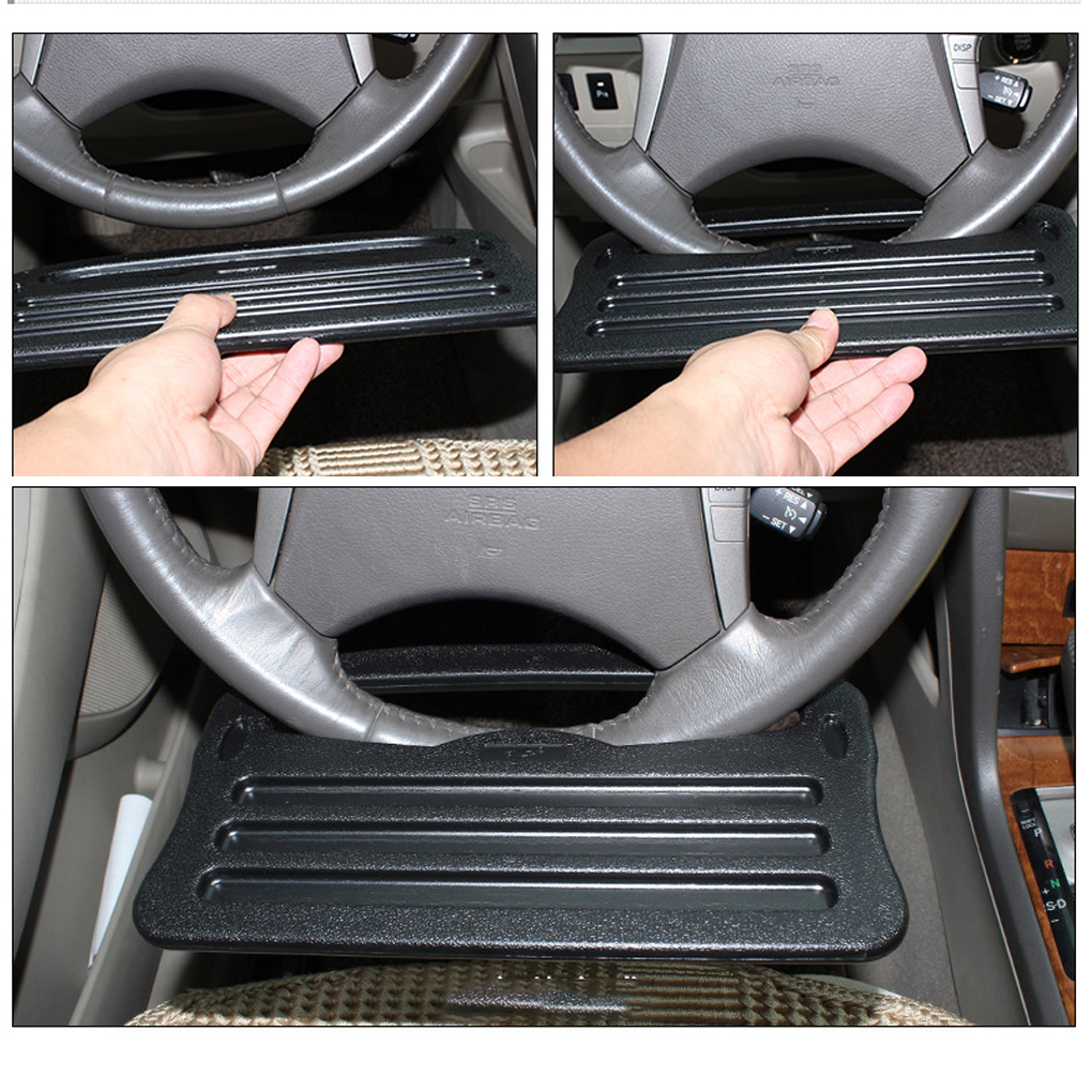 все цены на Universal Car Laptop Stand Notebook Desk Dining Table Clip Auto Steering Wheel Tray Drink Holder Desk Table онлайн