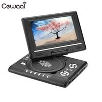 7.0 HD LCD Portable DVD Player Swivel Screen Radio with In Car Charger