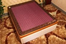 NEW Design 2016 heated Colorful jade tourmaline mattress jade Infrared heat mat health care good sleep mattress 2 size available