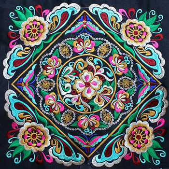 Chinese Style High Quality Embroidered Accessories Parches Bordados Para Ropa Vintage Mandala BOHO Parches Ropa 27*27cm фото
