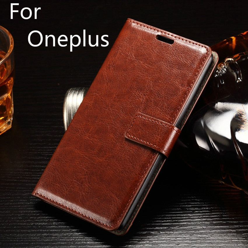 Top Quality Luxury Stand Retro Smart PU Leather Cover Case Crazy Horse Flip Leather for Oneplus 2 3 3T 5 X for One plus