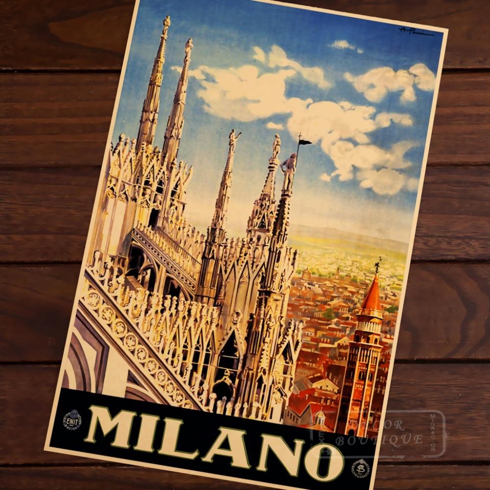 Italian Art.POSTER.Stylish Graphics.MILANO.Home Bar Decor Style 72