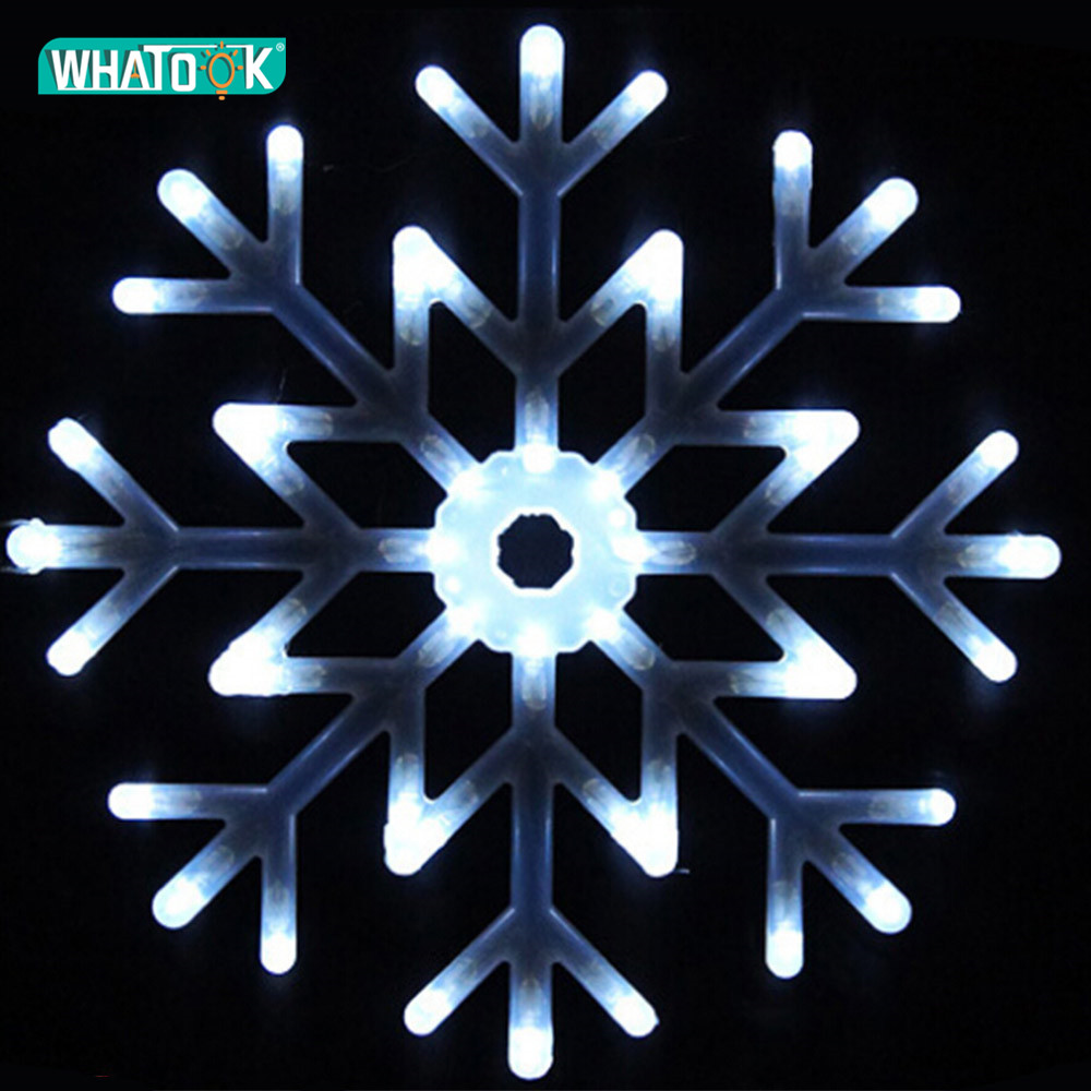 40CM LED Large Pendant Lights Waterproof Fashion Snowflake Droplight Crystal Bar Living Dining Room Indoor Outdoor Hanging Lamp