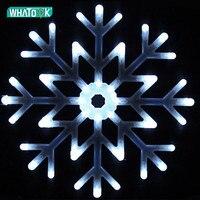 40CM LED Large Pendant Lights Waterproof Fashion Snowflake Droplight Crystal Bar Living Dining Room Indoor Outdoor Hanging Lamp
