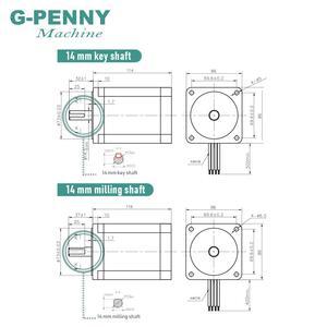 Image 3 - NEMA 34 מנוע צעד 86X114mm 8.7 N. m 6A 14mm פיר דורך מנוע 1172Oz in עבור CNC לייזר חריטת מכונה