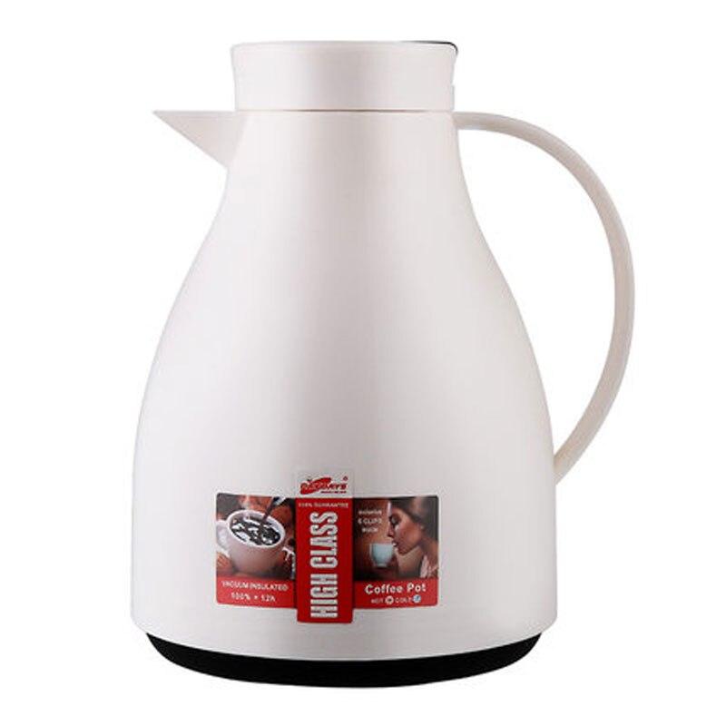 Daydays 1000ml Thermos Flask Coffee Pot Carafe Jug White