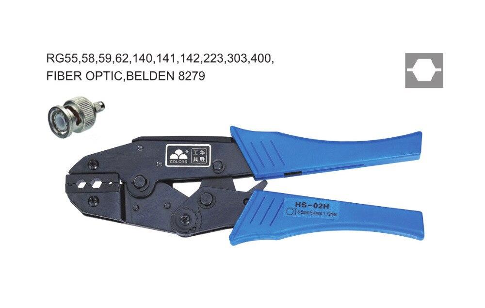 Ratchet crimping plier6.5,5.4,1.72mm2  BNC terminals crimping tools  multi crimping pliers(EUROPEAN STYLE))  цены