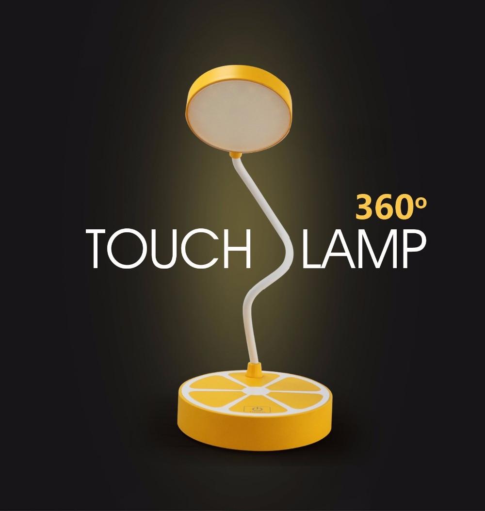 Table Lamps Student Bedroom USB Lemon Touch Desk Light 110V 220V Orange  Reading Bed Light Childrens In Desk Lamps From Lights U0026 Lighting On  Aliexpress.com ...