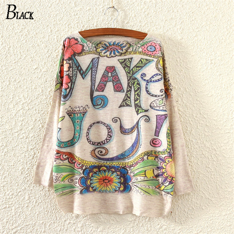 15 Color Print Women Sweater 2019 New Spring Winter Arrival Pull Femme Cute Style Flower Round Neck Knitted Sweaters Pullovers