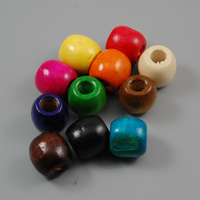 Wholesale 50pcs lot 12 17MM Mixed Colors Large Hole Wooden Beads Making DIY Bracelet Necklace Loose Beads Jewelry Accessories cheap missxiang NONE B19028 as picture Fashion Oval Shape ball Wood bead