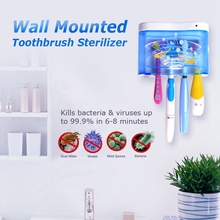 SEAGO UV Ultraviolet Family Toothbrush Sanitize - Sterilizer Up To 99.9% of Germs Battery Power Flat Box Sanitizer