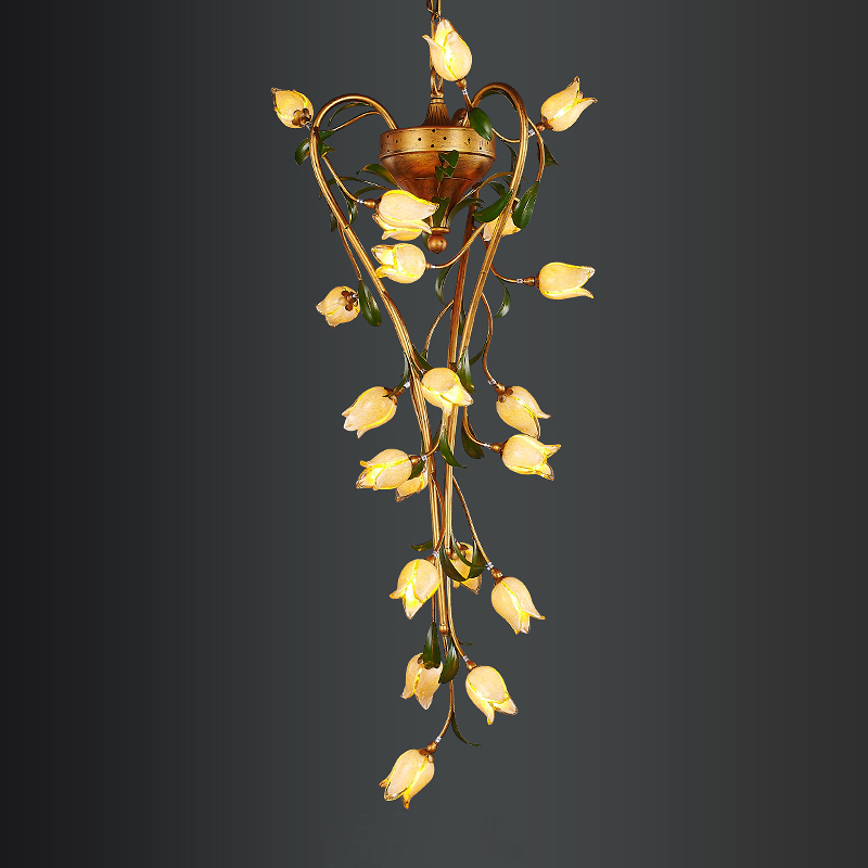 Length of the chandelier American Pastoral art retro nostalgia country style romantic hotel villa creative lamps duncan bruce the dream cafe lessons in the art of radical innovation