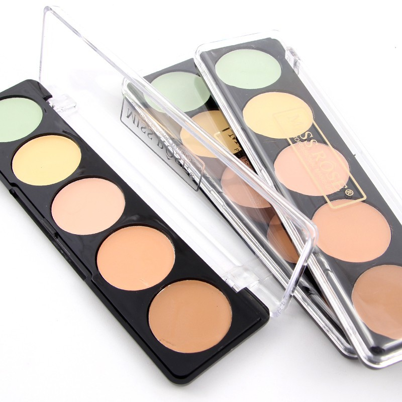 Miss Rose concealer palette 5 colors corretivo contour palette face base maquiagem Hide Coverage BB