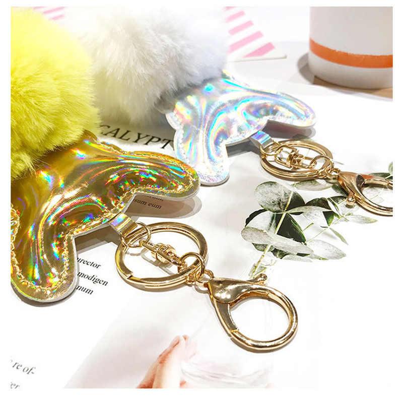 Fancy & Fantasy новые милые животные помпоны мяч брелок из искусственного меха кролика помпон собаки Брелоки для ключей, подвески на сумку брелок Llaveros Para Mujer