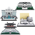 LOZ blocks Architecture Series The White House Juguetes Trevi Fountain Mini Diamond Blocks Compatible with Legoe Educational Toy