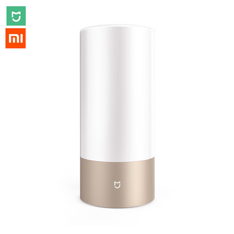 Xiaomi Mijia LED Smart Bedside Table Cylinder Touch Dimmable Lamp Bluetooth WiFi APP Bedroom Romantic Night Light Colorful Bulbs