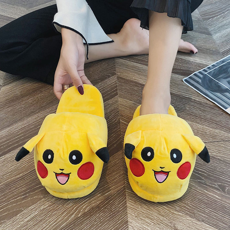 Indoor Shoes Slipper Pikachu Slides Cartoon Household Woman Mujer Winter 6785 Zapatos