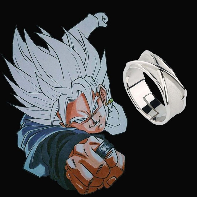 anime super dragon ball z black son goku cosplay accessories time finger ring fashion jewelry props