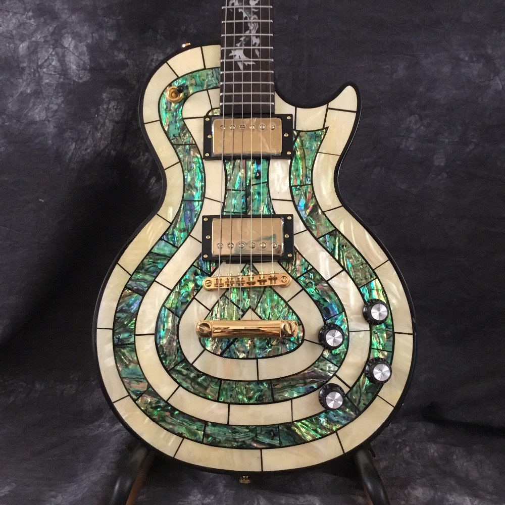 Custom Shop LP Electric Guitar With Dragon Inlay In Fretboard Inlay Abalone Custom Available