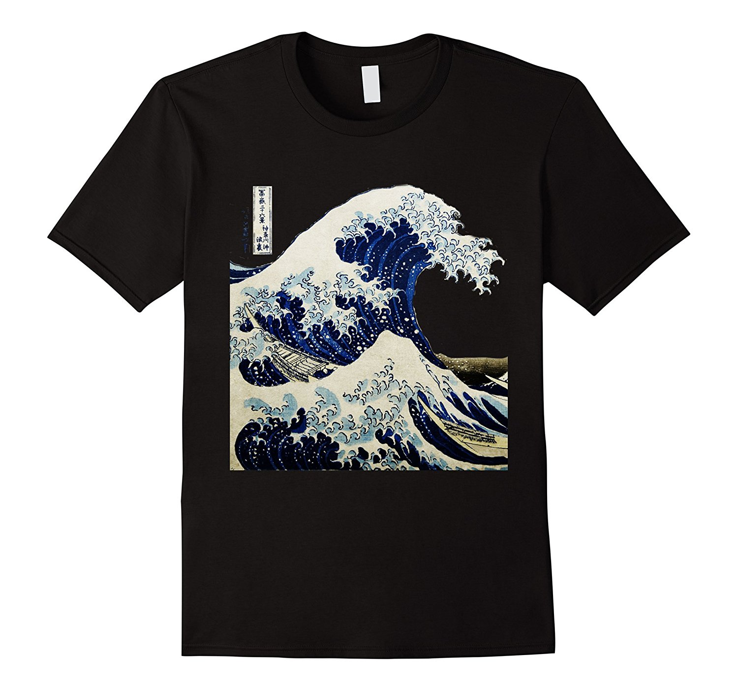 Kanagawa Japanese The Great Wave T Shirt Top Quality Cotton Casual Men T Shirts Men Free Shipping Print T-Shirt Mens Short