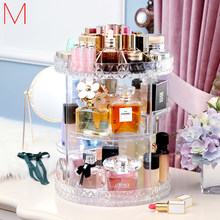 Spin Lipsticks Organizer Rotating Makeup Box Cosmetics Storage Plastic Spin Cosmetic Box Detachable Makeup Organizer Holder Rack(China)