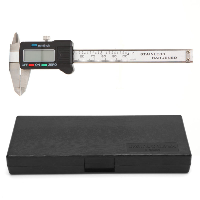 100mm LCD Electronic Digital Gauge Stainless Steel Vernier Caliper Micrometer