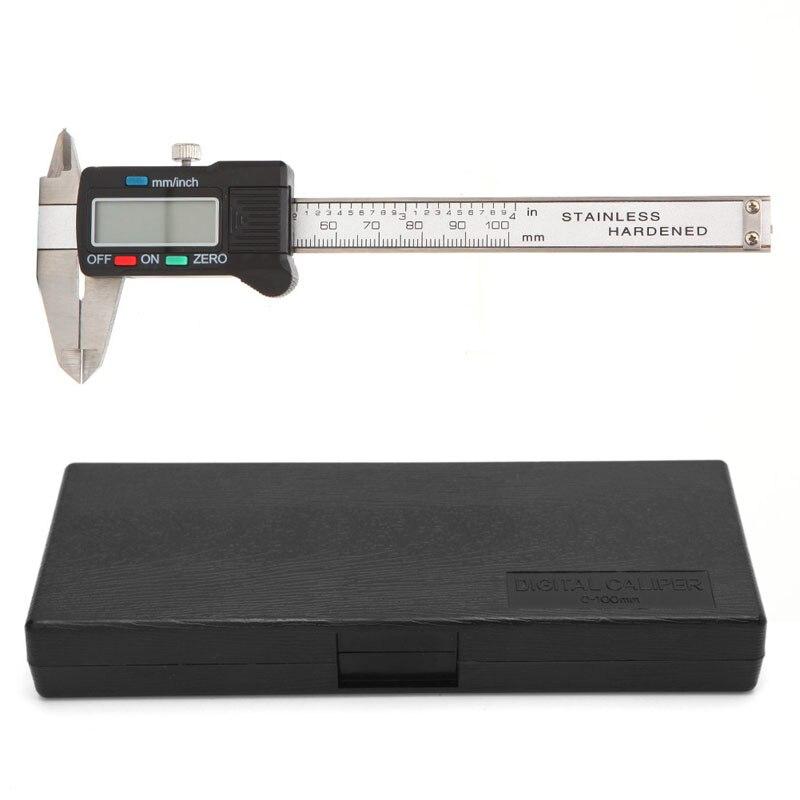 100mm LCD Electronic Digital Gauge Stainless Steel Vernier Caliper Micrometer