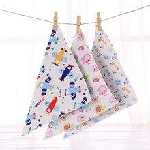 2016 NEW  Triangle children's cartoon cotton towel baby bib Bib slobber anti dirty baby napkins cloth shipping randomly