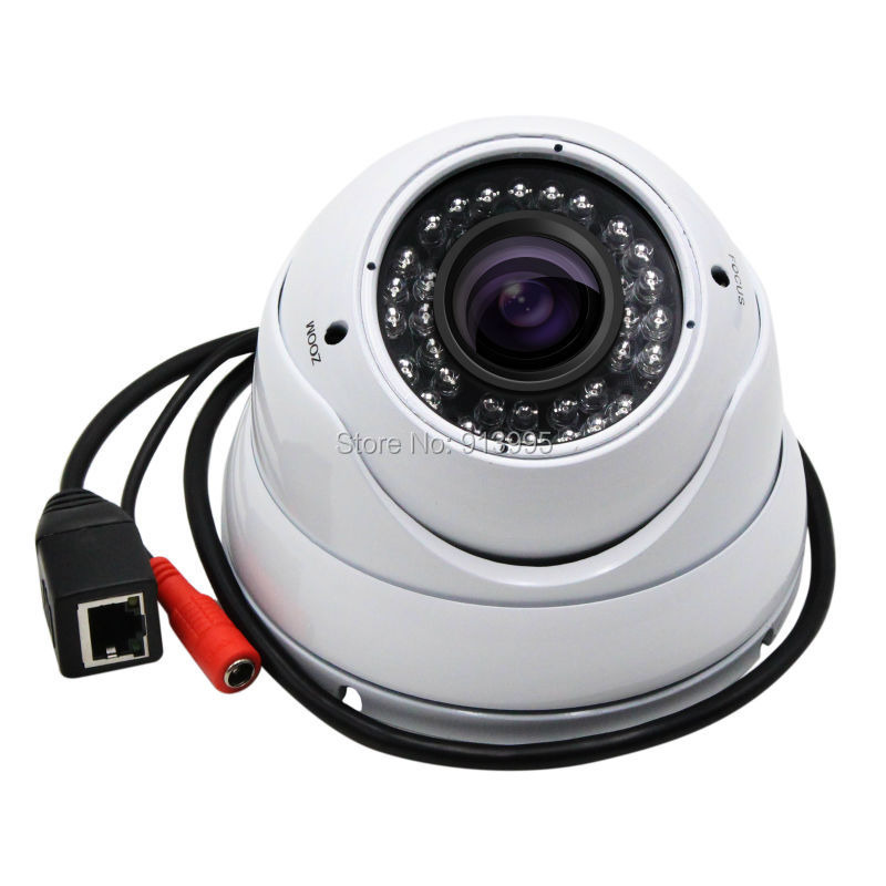 ФОТО Outdoor Dome IP Camera waterproof CCTV Security 1.0 Megapixe Onvif  ir 35m night vision 2.8-12mm varifocal lens dome IP Camera